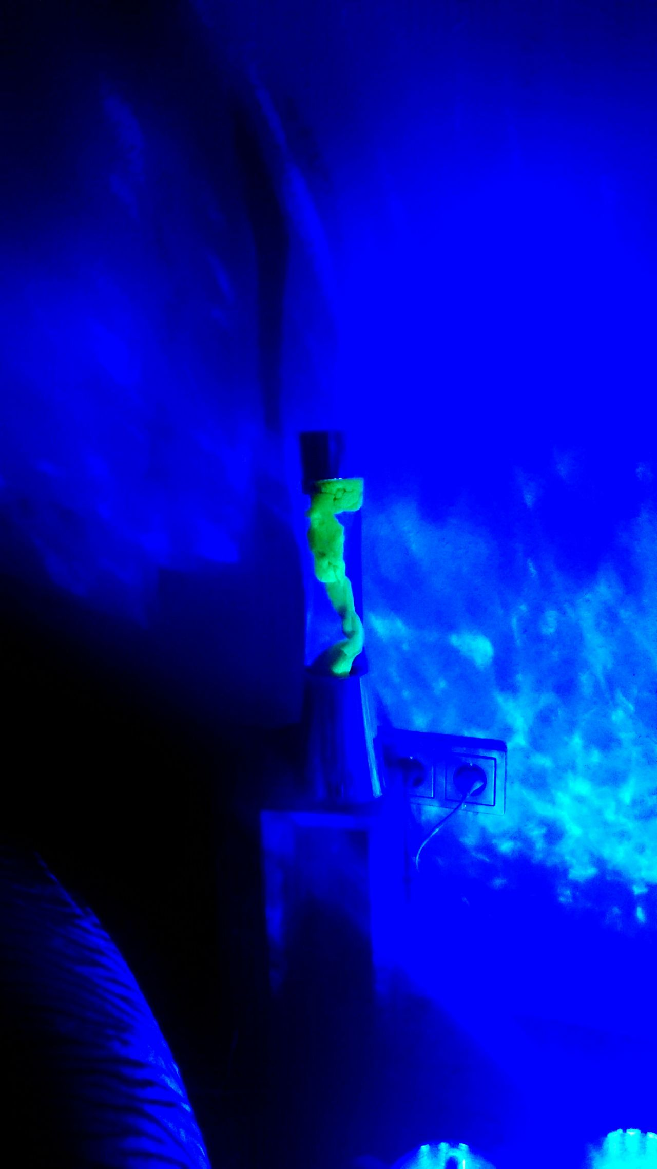 Lava lamp overnight - Overnight Success Lava Lamp In Blue Light Neon Yellow Blue Technology Atmospheric Mood Vibrant