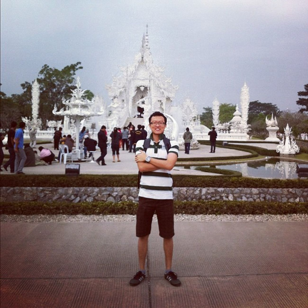 Thailand Holiday Chiangrai Temples whitetemple watrongkhun getaway popular random placesofinterest white asia