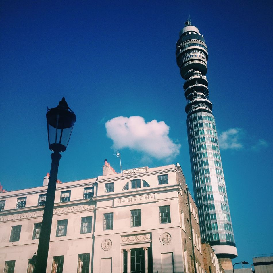 London BT Tower London OpenEdit Walking Around Streetphoto_color Streetphotography Urbanphotography Strange Postcards View From The Street Lookingup