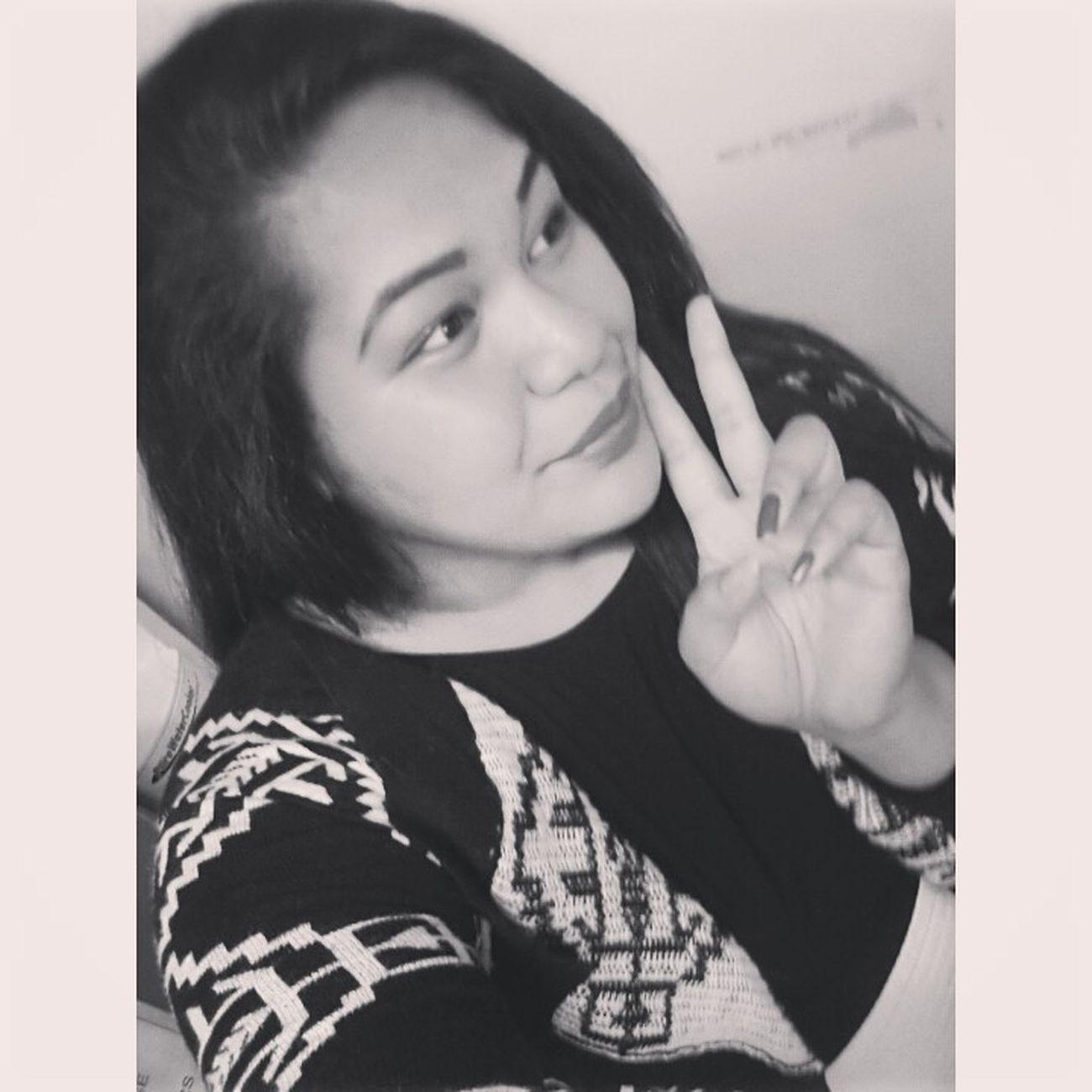 Peace Beauty Smiles Selfie