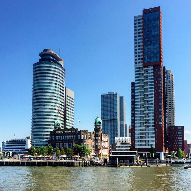 Rotterdam Holland Netherlands Skyscrapers Skyline From My Point Of View Traveling Travel Blue Sky Travel Photography