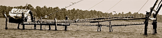 Backwaters Blackandwhite India Kerala Landscape Travel Destinations