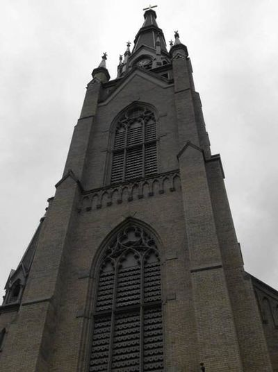 Upshot of Basilica of the Sacred Heart Architecture Building Exterior Place Of Worship Religion History Gothic Style Outdoors Spire  Low Angle View Holy Place In Awe Saw On My Walk Historical Building