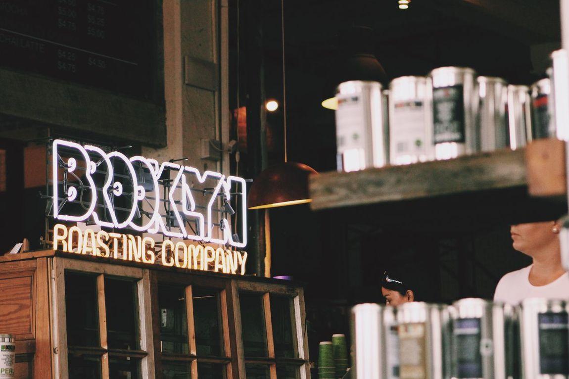 Brooklyn Roasting Company Coffee Coffee Shop New York City New York DUMBO My Favorite Place Sign Neon Lights