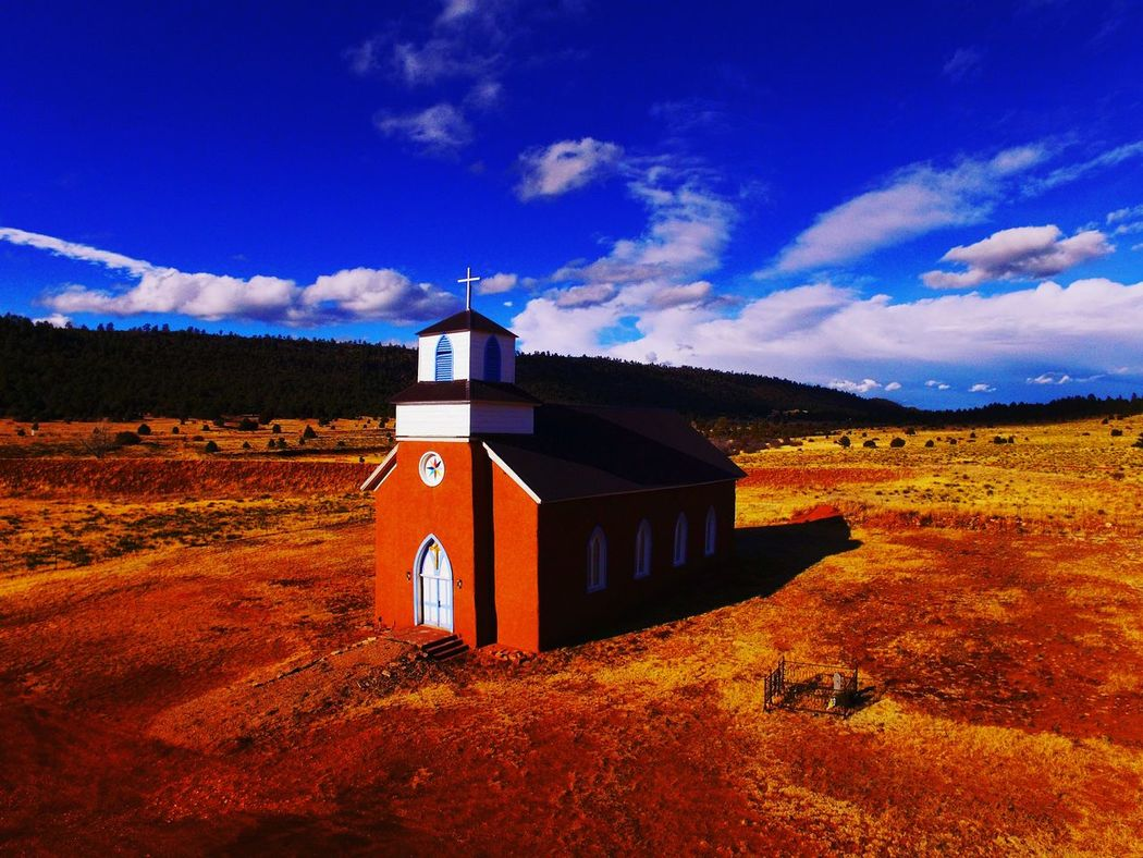 Religion Place Of Worship Cross No People Outdoors Newmexicoskies Newmexicoskys Dji Global NewMexicoTRUE Newmexicophotography DJI Phantom 3 Rural Scene Spirituality Place Of Worship Scenics Travel Destinations