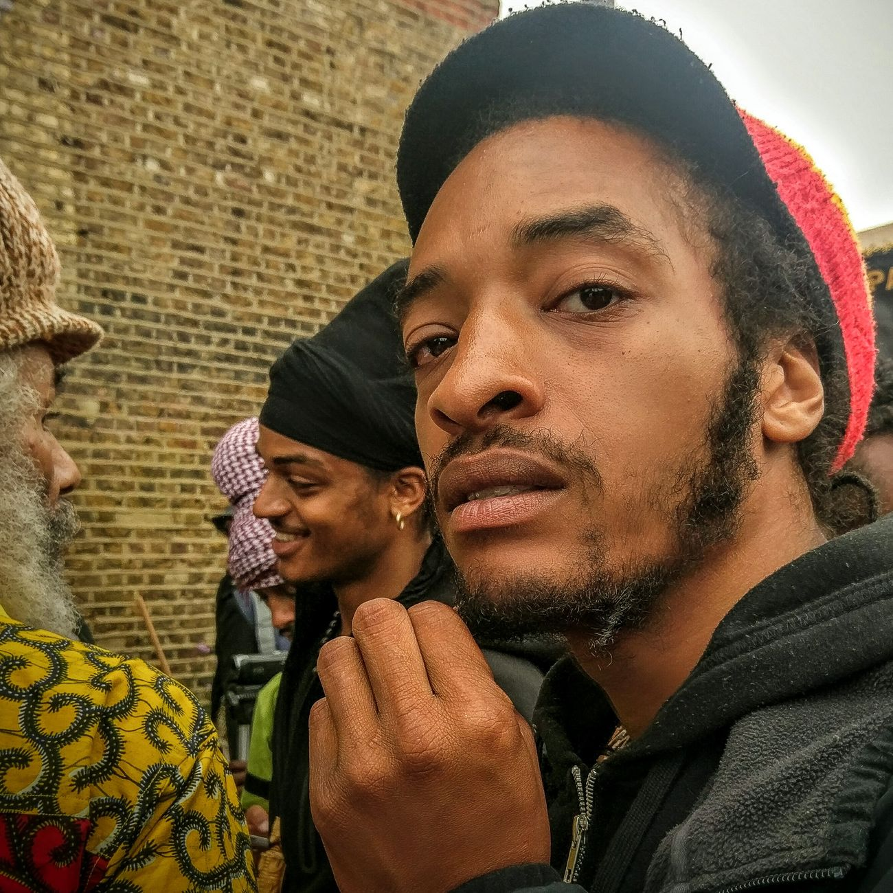 Headshot Togetherness Close-up Urban Beauty People Cultures Group Of People Outdoors Love Men Smiling Street Streetphotography City Portrait Melanin Portraits Human Face RASTA Locs Headwrap  Hat Young Adult Senior Adult