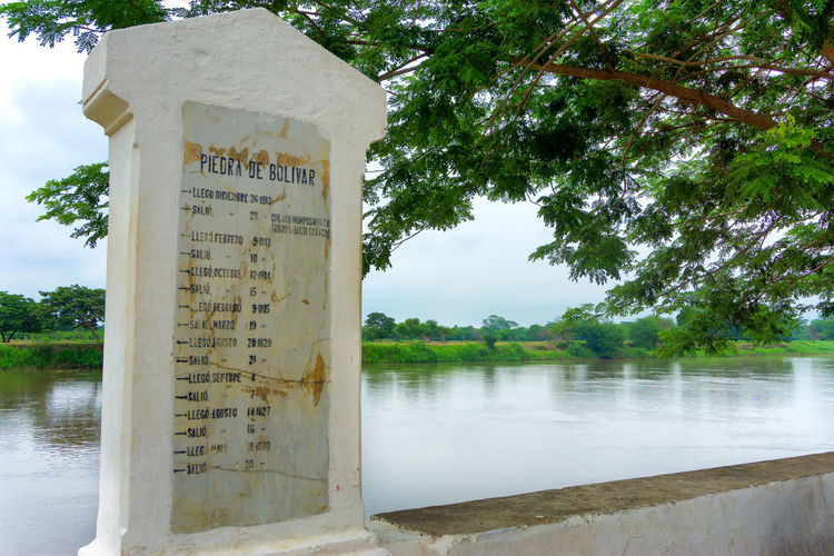 Stone commemorating when Simon Bolivar passed through the town of Mompox, Colombia Architecture Bolivar Bolivar Plaza Colombia Destination Green Grove Growth Growth Jungle Liberator Magdalena Mompos Mompox  Monument Natural Nature Outdoors River SimonBolivar Summer Town Tree Tropical Waterfront