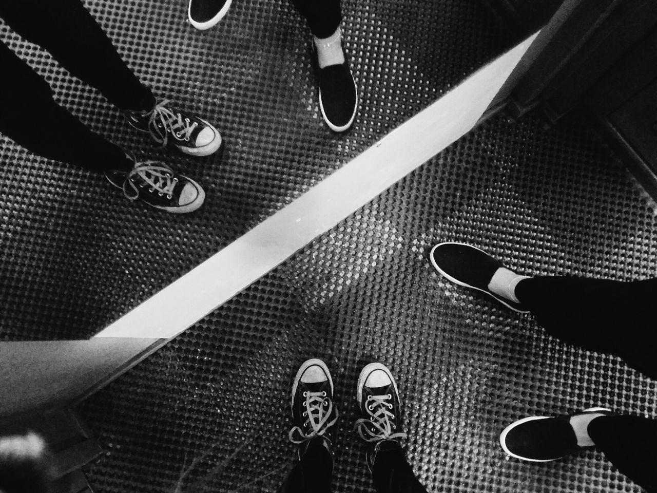 Shoes Indoors  Mirror Reflection Night Blackandwhite Photography EyeEm Bnw Girls BYOPaper! B&W Collection B&w Photography Mirror Moment Friendship Converse