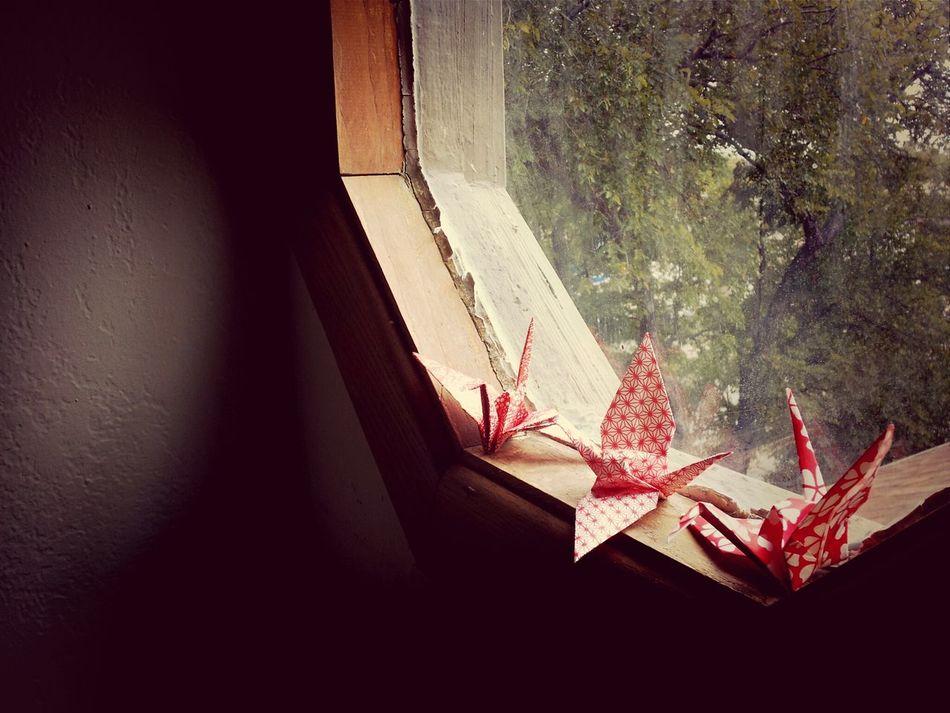 Papercranes Homemade Window Simple.