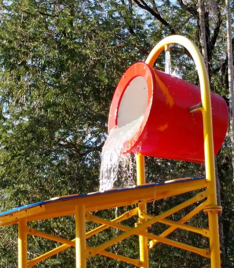 Red Outdoors Water Play Water Play Childrens Play Thing
