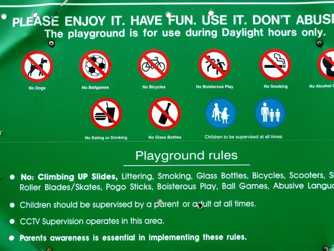 Where's the fun! Outdoor Photography Ayeshea Bah EyeEm Gallery Fresh On Eyeem  Fanore, Ireland Playground Signs