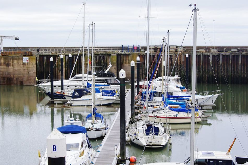 Transportation Watchet Docks Marina Low Tide Yacht At Anchor Relaxing Taking Photos