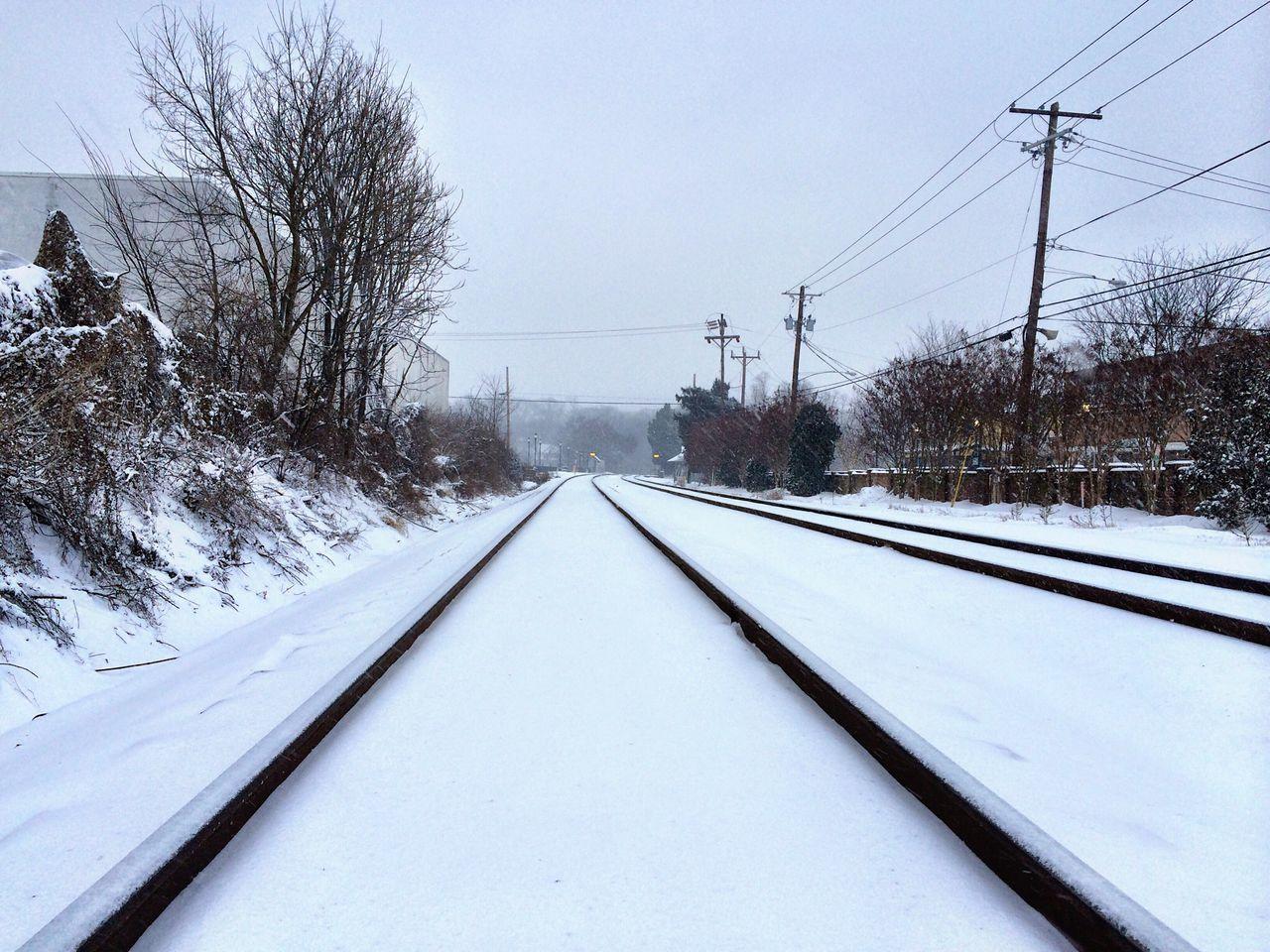 Snow Weather Railway