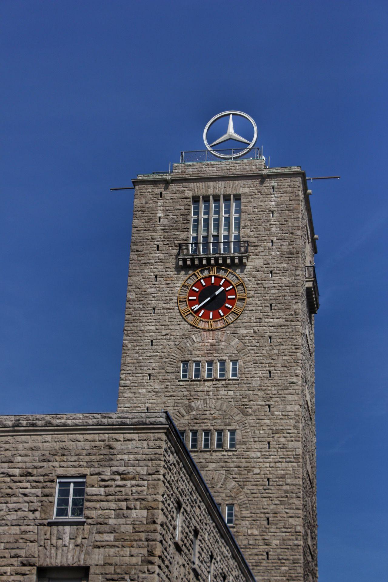 Architecture Architektur Baden-Württemberg  Bahnhof Building Exterior City Clear Sky Clock Clock Tower Daimler Low Angle View Mercedes Schwabenland Stadt Star Stein Stern Stone Stuttgart Train Station Turmuhr Uhr