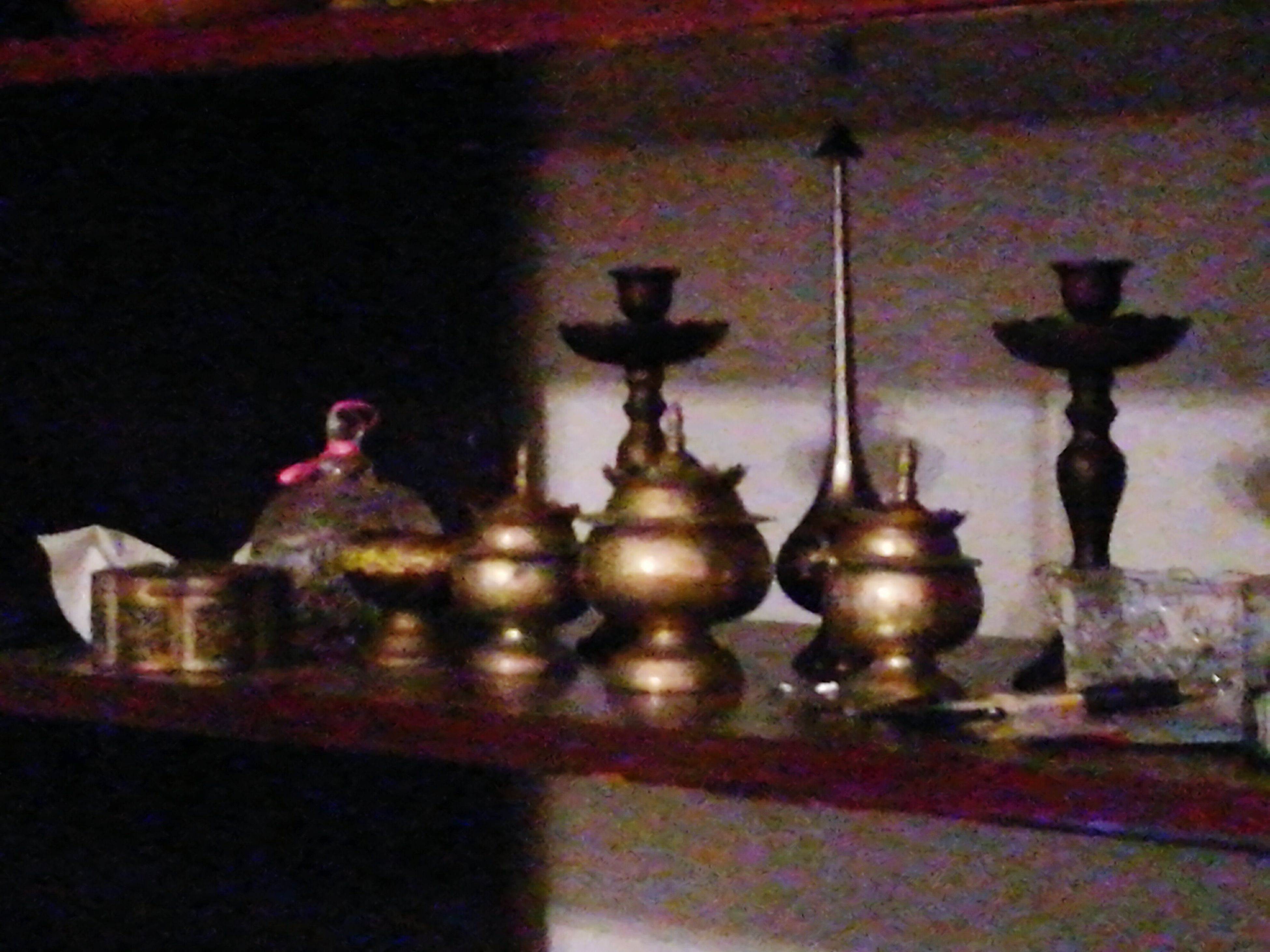 religion, place of worship, indoors, spirituality, no people, oil lamp, day