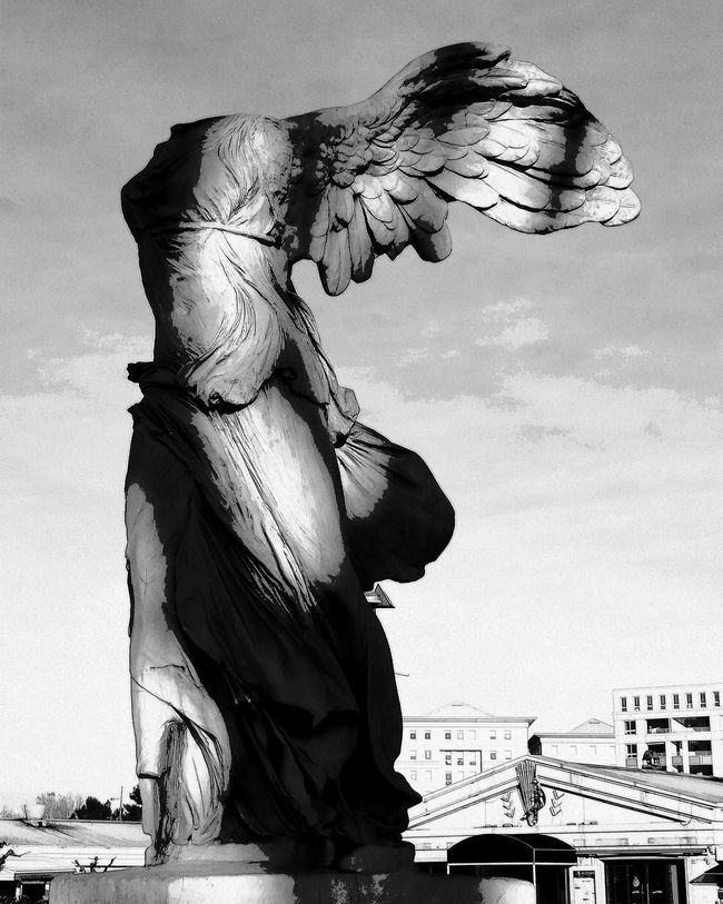 One Person Motion Adults Only Adult Only Women Women Engraved Image One Woman Only Real People People Day Outdoors Statue Angel Statue Victoiredesamothrace Montpellier Tourism Antigone Noiretblancphotographie My Photography