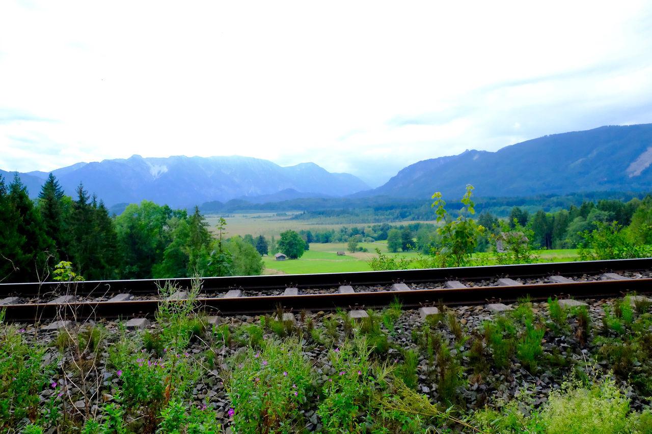 Bavaria Cloud Cloud - Sky Green Color Landscape Mountain Mountain Range Murnauer Moos Nature Outdoors Rails Railway Scenics