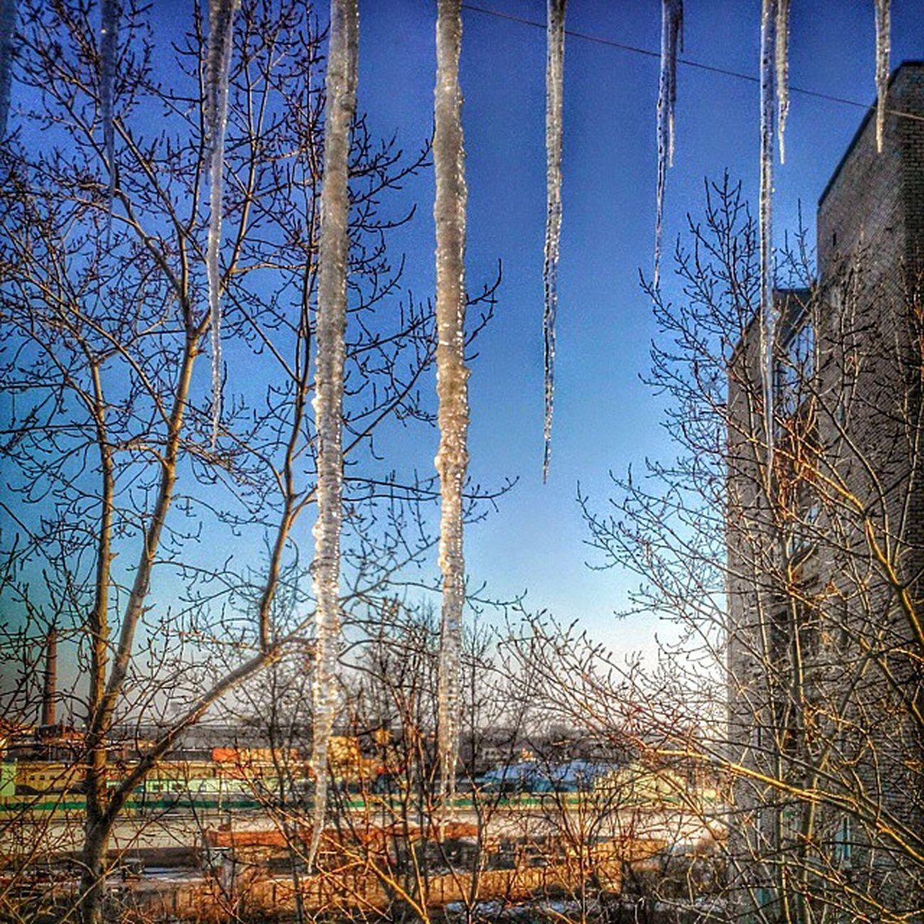 омск сибирь весна март сосульки вечернийомск вечер Закат Omsk Siberia Spring March Evening Sunset Icicle HDR