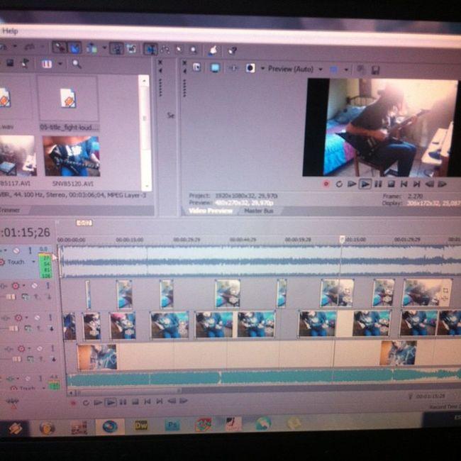 Terminando de editar el video. Titlefight GuitarCover Loudandclear SonyVegasPro