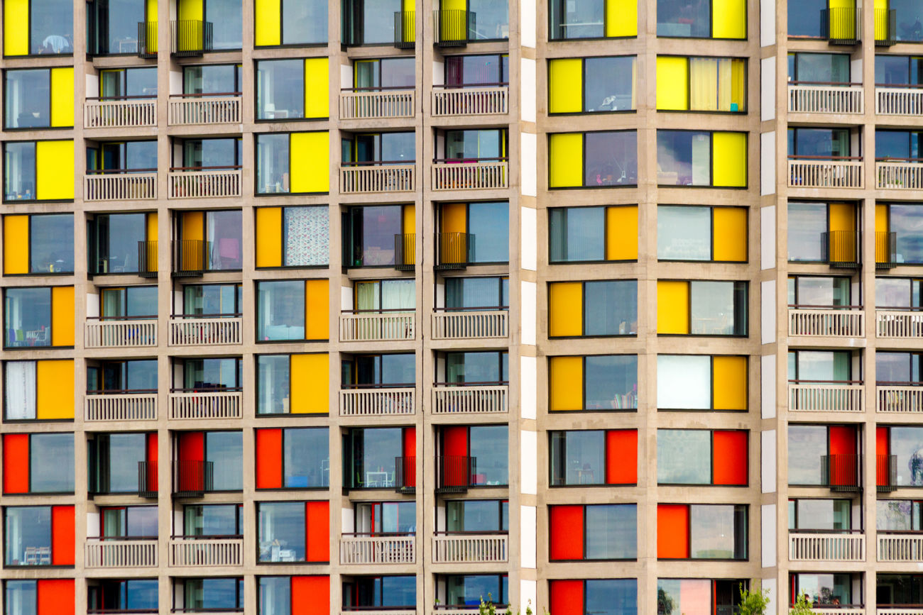 Park Hill, Sheffield Apartment Architecture Brutalism Building Exterior Built Structure City Colorful Colourful Full Frame Multi Colored No People Repetition Window