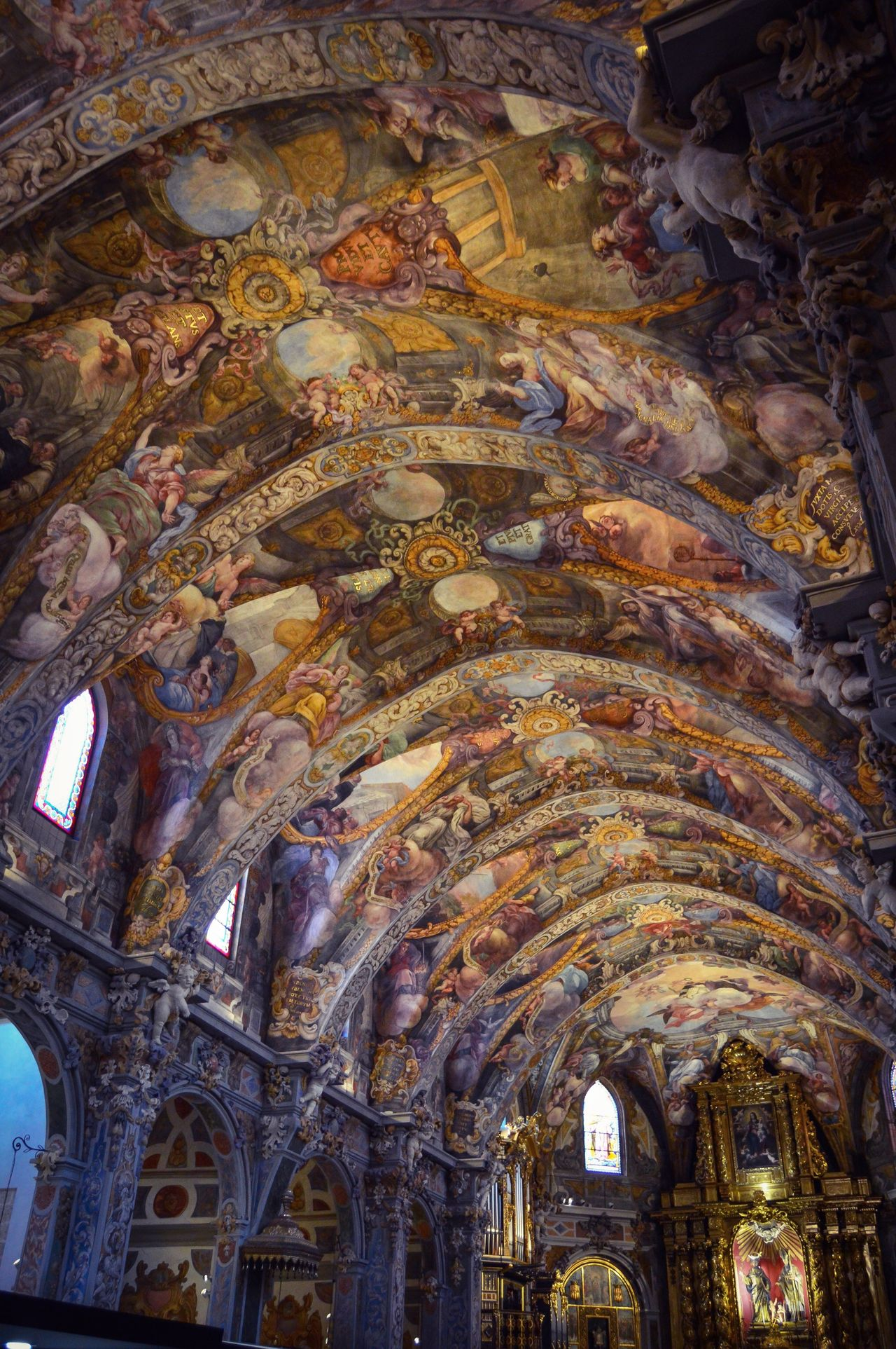 Iglesia de San Nicolas de Bari y San Pedro Martir (Valencia - Spain) Architecture Landmark Church Travel Tourism Interior Art Ceiling Decoration Painting Indoors  Valencia, Spain SPAIN
