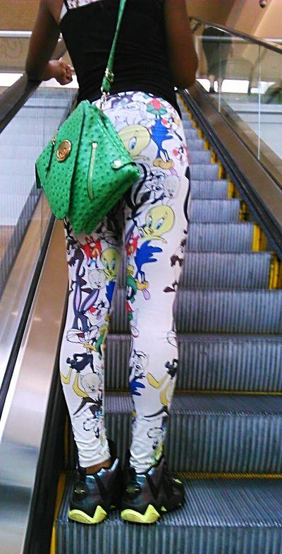 The Following Escalator Cartoon Characters Leggings Leggins Leggin Purse Tweety Tweetybird Tweetybutt Girl