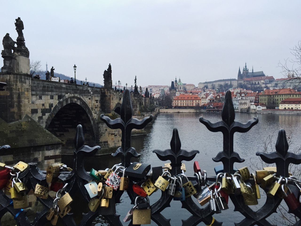 ❤️ Architecture City Sky Day Water Outdoors Love Locks Love Romantic Prague Charles Bridge Cityscape Monument Bridge - Man Made Structure Love Locks Bridge Miles Away City Break Travel Destinations Mobile Photography IPhoneography Czech Republic No People