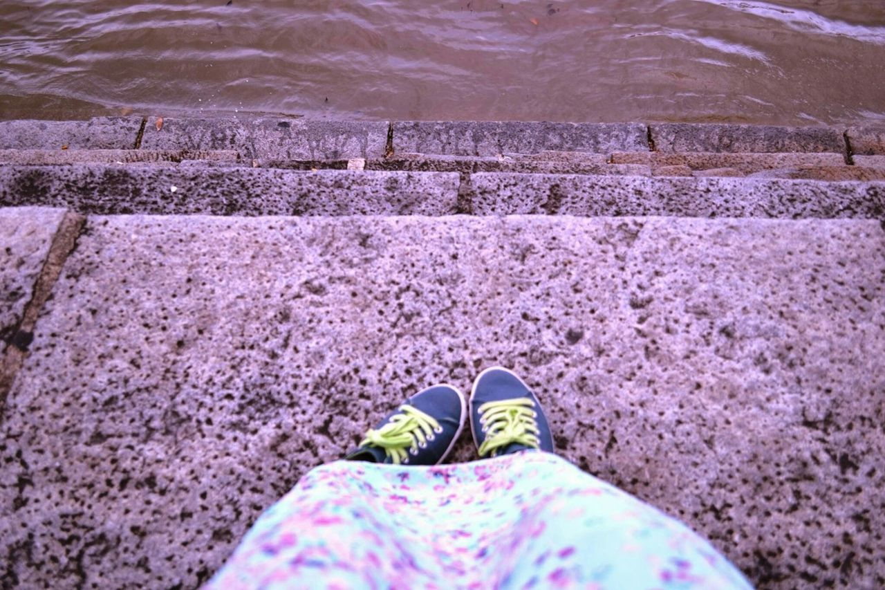 Eyemphotography Casualshoes Casualgirl EyeEmBestEdits Blurred Background Blue Effect GoodTimes EyeEm Gallery River View Calm & Cool
