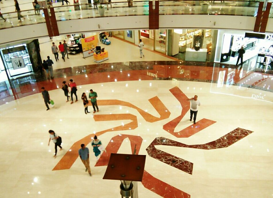 High Angle View Medium Group Of People Men People And Places Illuminated Walking Person