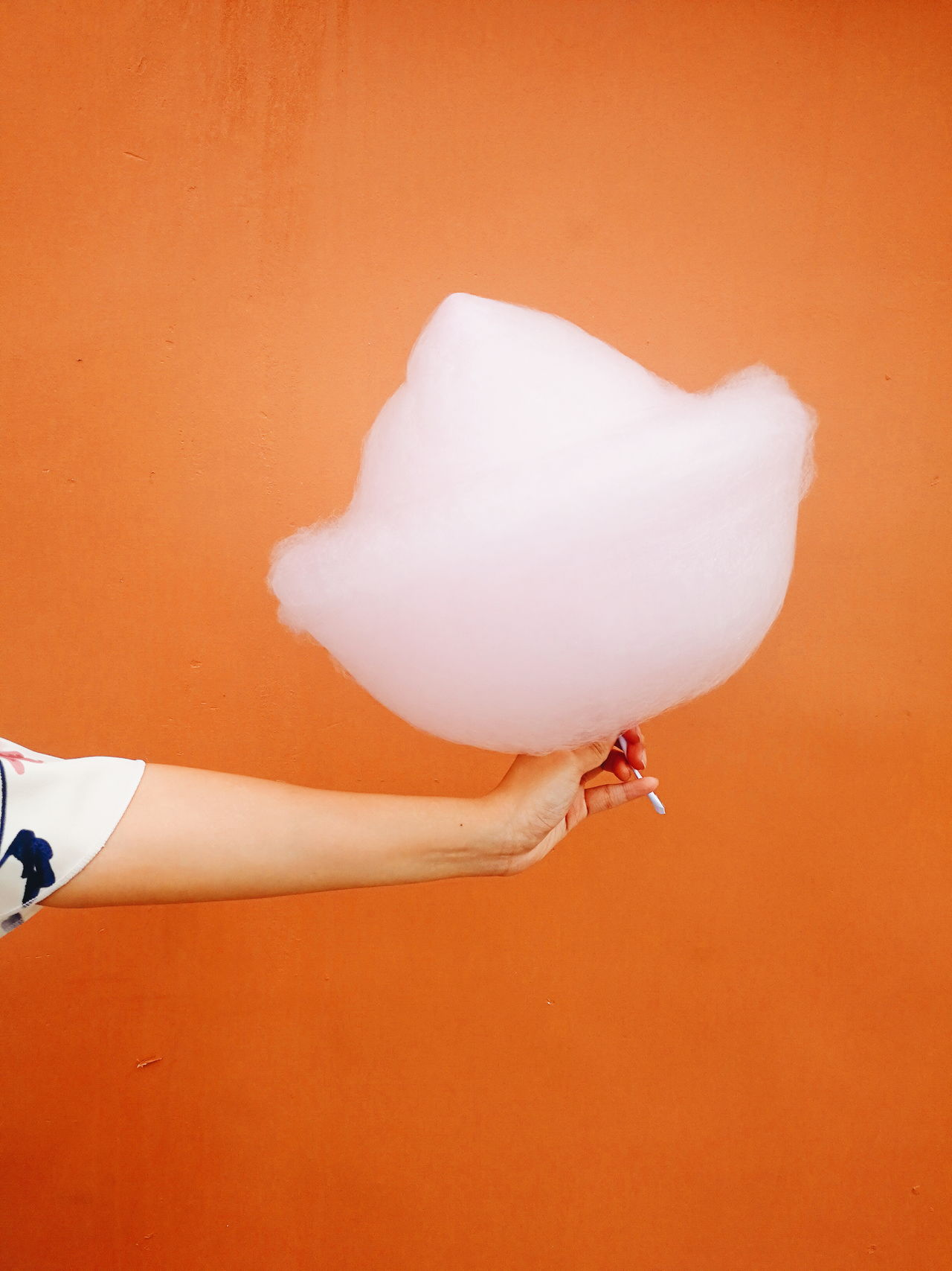 Fluff Colored Background One Person People Human Body Part Indoors  Candy Sweets Cotton Candy Sugar