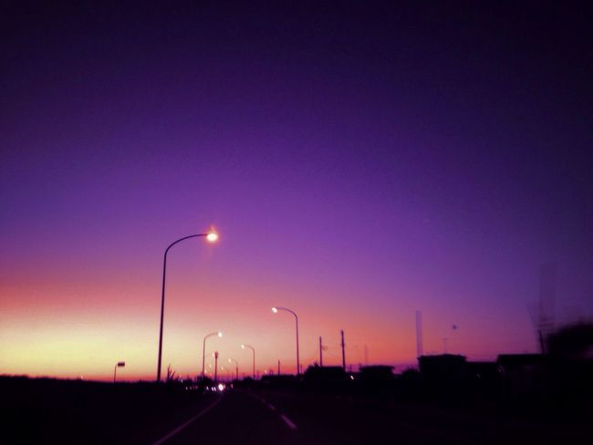 IPhone IPhoneography Mobilephotography Street Light Road Colors View Sky_collection Evning Sky Light And Shadow EvningGlow Akita
