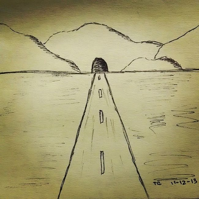 What's on the other side of the tunnel? StickyNoteDoodle
