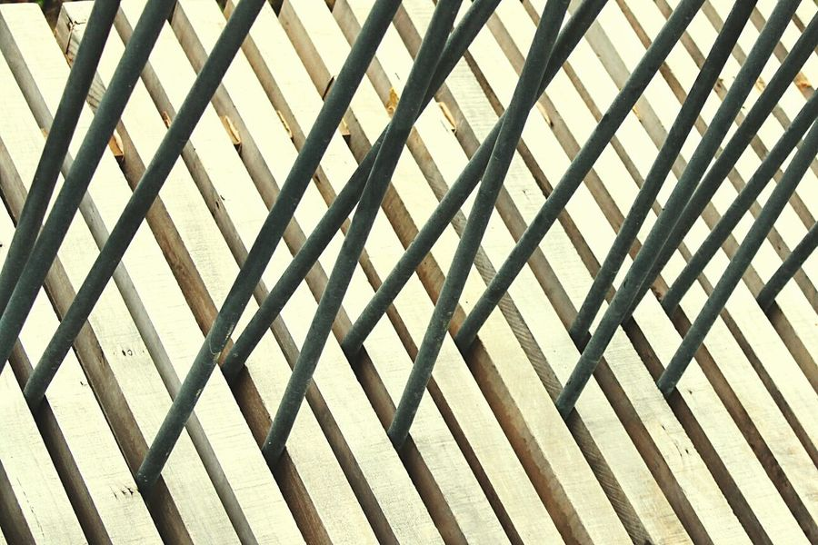 Pattern Metal Day Outdoors High Angle View Protection No People Close-up Boardwalk Scapes Hobsonville Point Novice Photography First Eyeem Photo Built Structure Timber Steel