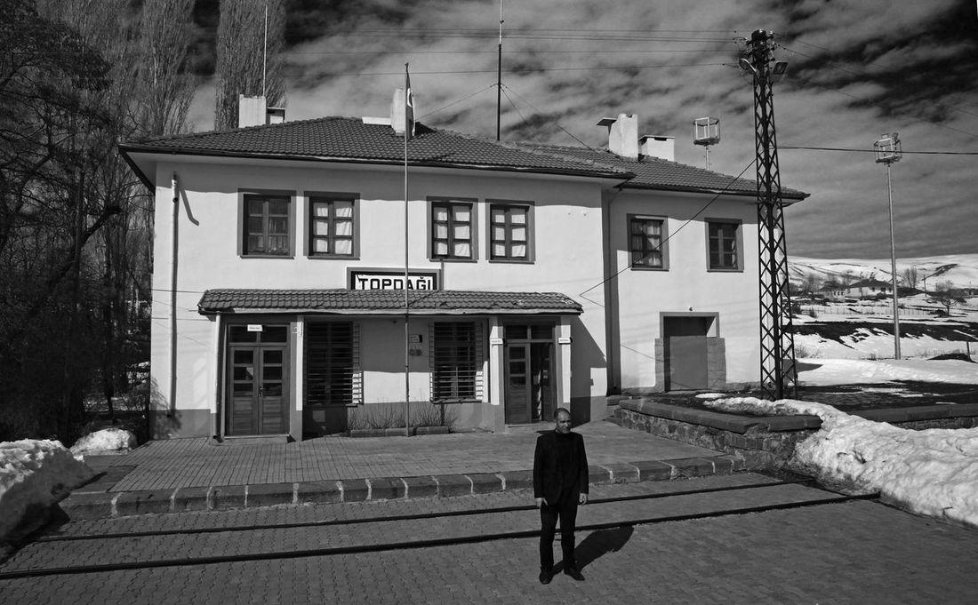 Kars Istasyon Railway Station TCDD Train Black And White Black & White Doğu Ekspresi Railway Journey Turkey Sarikamis