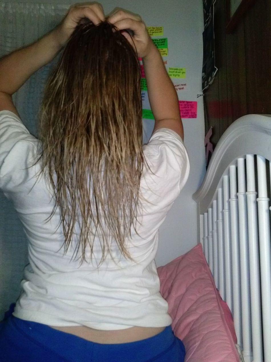My hair has grown a lot since I cut it?❤ Hair Blonde ♡ Hairgrowth Longhairdontcare