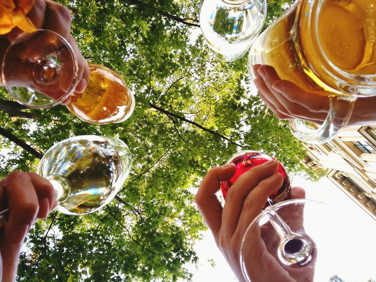 Human Body Part One Person Human Hand Adults Only Personal Perspective Holding Only Women People One Woman Only Real People Refreshment Day High Angle View Drink Lifestyles Adult Outdoors Low Section Leisure Activity Drinking Beer Drinking Afterwork Beer Sommergefühle Wine Not