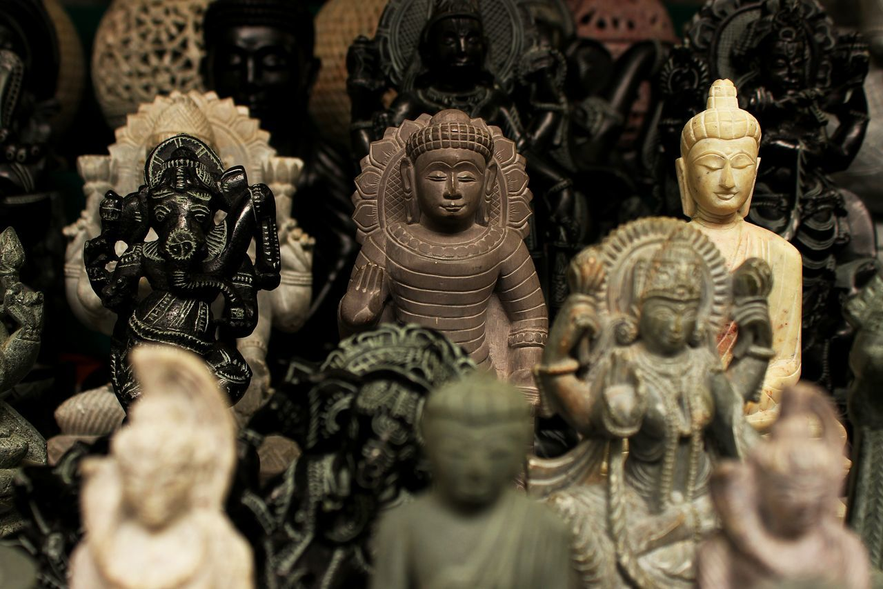 statue, human representation, male likeness, sculpture, religion, art and craft, spirituality, no people, idol, indoors, day