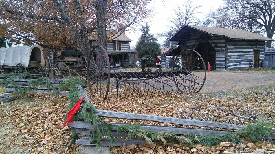 Waiting Game Santa! We've been waiting for you! My Year My View Santa Claus Antiques Farm Equipment Covered Wagon Log Cabins Log Cabin Tree Christmas Christmas Around The World Christmas Party Christmas 2016