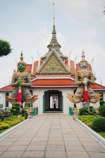 👹👹 Religion Architecture Pagoda Travel Destinations History Travel Sky Temple Templephotography Giant Thailand Thailandtravel Outdoors Arrival No People Tree Day Watarun Watarunbangkok EyeEmNewHere EyeEm Selects