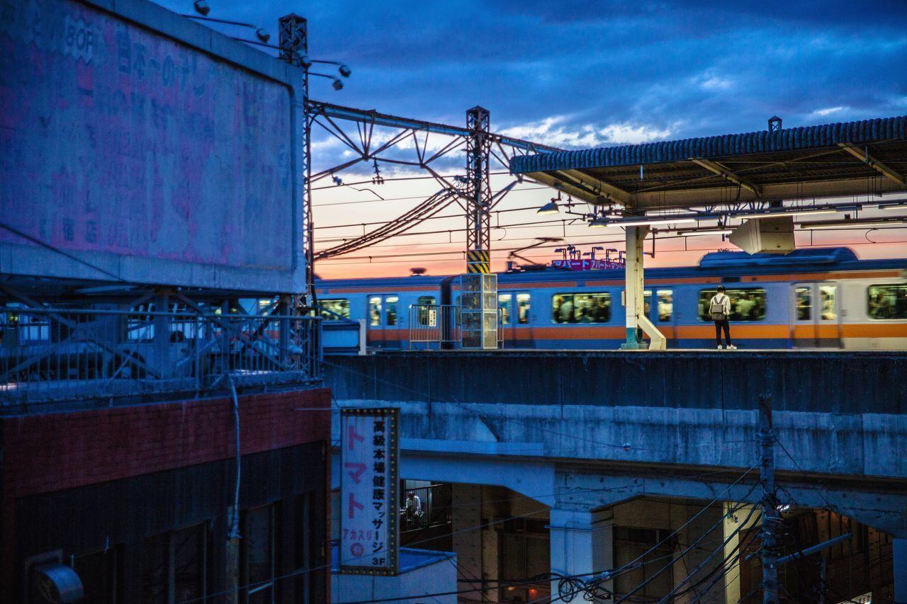 The Street Photographer - 2017 EyeEm Awards Japan Photography Tokyo Night Chuo Line Asagaya Brightlights Local