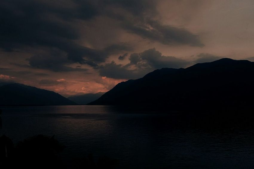 Lakeview over Lago Maggiore at sunset Landscape Mountain Scenics Lake Dramatic Sky Nature Outdoors Beauty In Nature Lakeview Lago Maggiore Lago Maggiore, Italy Water Waterfront_challenge Travel Destinations Italy🇮🇹 Lost In The Landscape Perspectives On Nature
