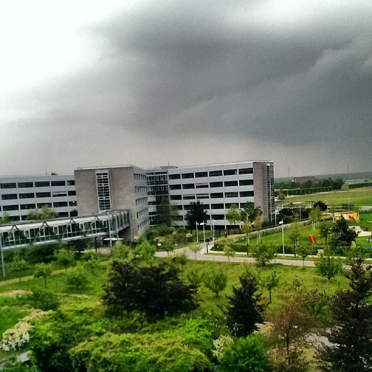 Heavy clouds over Sap HQ in Walldorf today. LifeatSAP