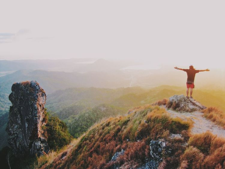 Sunset at the top of the mountain. Travelphotography Mountain Climbing Outdoor Photography The EyeEm Facebook Cover Challenge