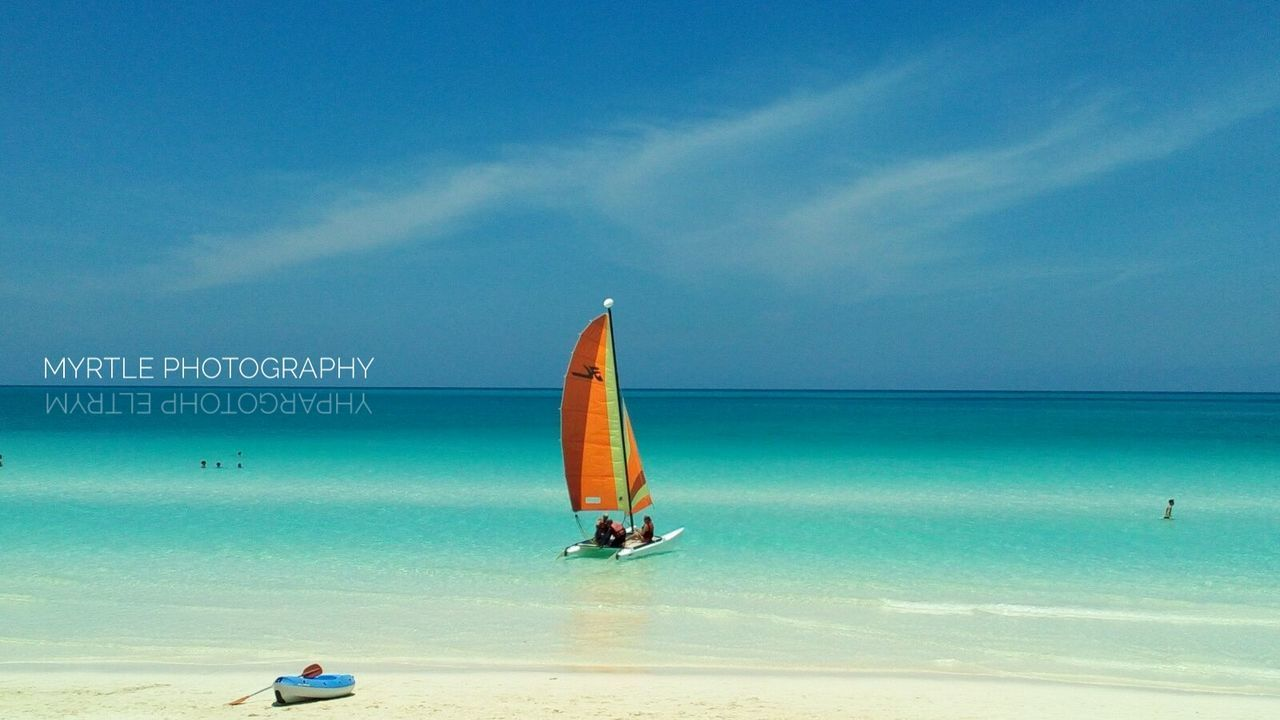 Sea Beach Horizon Over Water Sailboat Blue Outdoors Nautical Vessel Day Vacations Sky Water Sailing Nature No People Sailing Ship Nature Abstract Backgrounds Travel Destinations Beauty In Nature Scenery Shots Great View Cuba Chica Santa Maria Cuban Lifestyle Live For The Story The Great Outdoors - 2017 EyeEm Awards