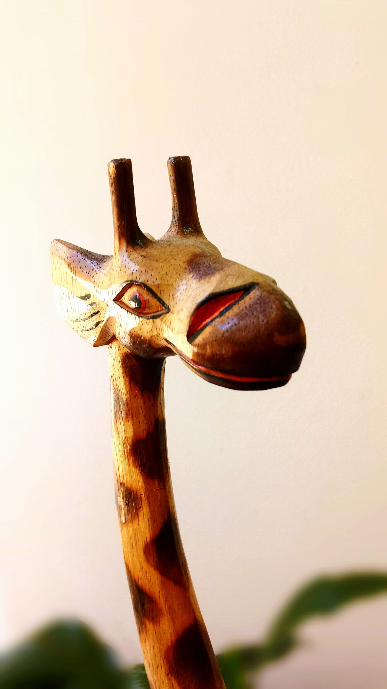 Animal Themes One Animal Giraffe♥ Camelopard Wood - Material Africa