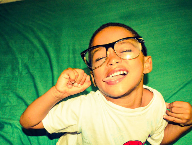 Cute Fun Glasses Goofing Happiness Having Fun With Kids Headshot Kids Leisure Activity Lifestyles Person Portrait Smiling Tongue Tongue Out Toothy Smile