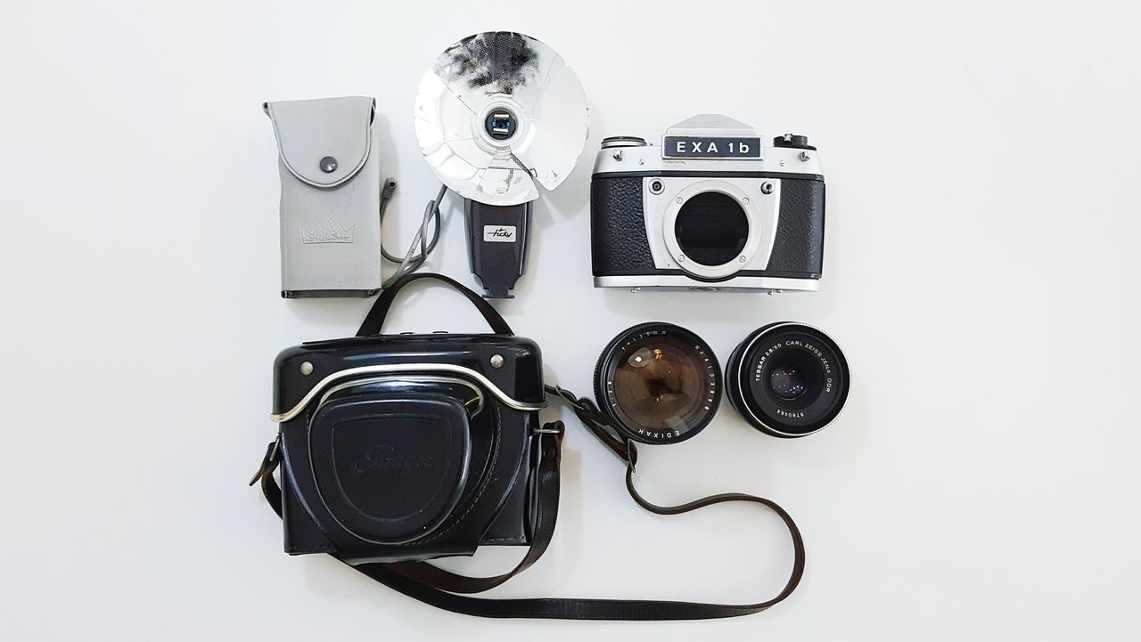 Technology Archival No People Film Camera Aperture Vintage Film Photography Shutter Carl Zeiss Photographer Photography Themes Camera - Photographic Equipment Ihagee Dresden EXA Flash Camera Lens