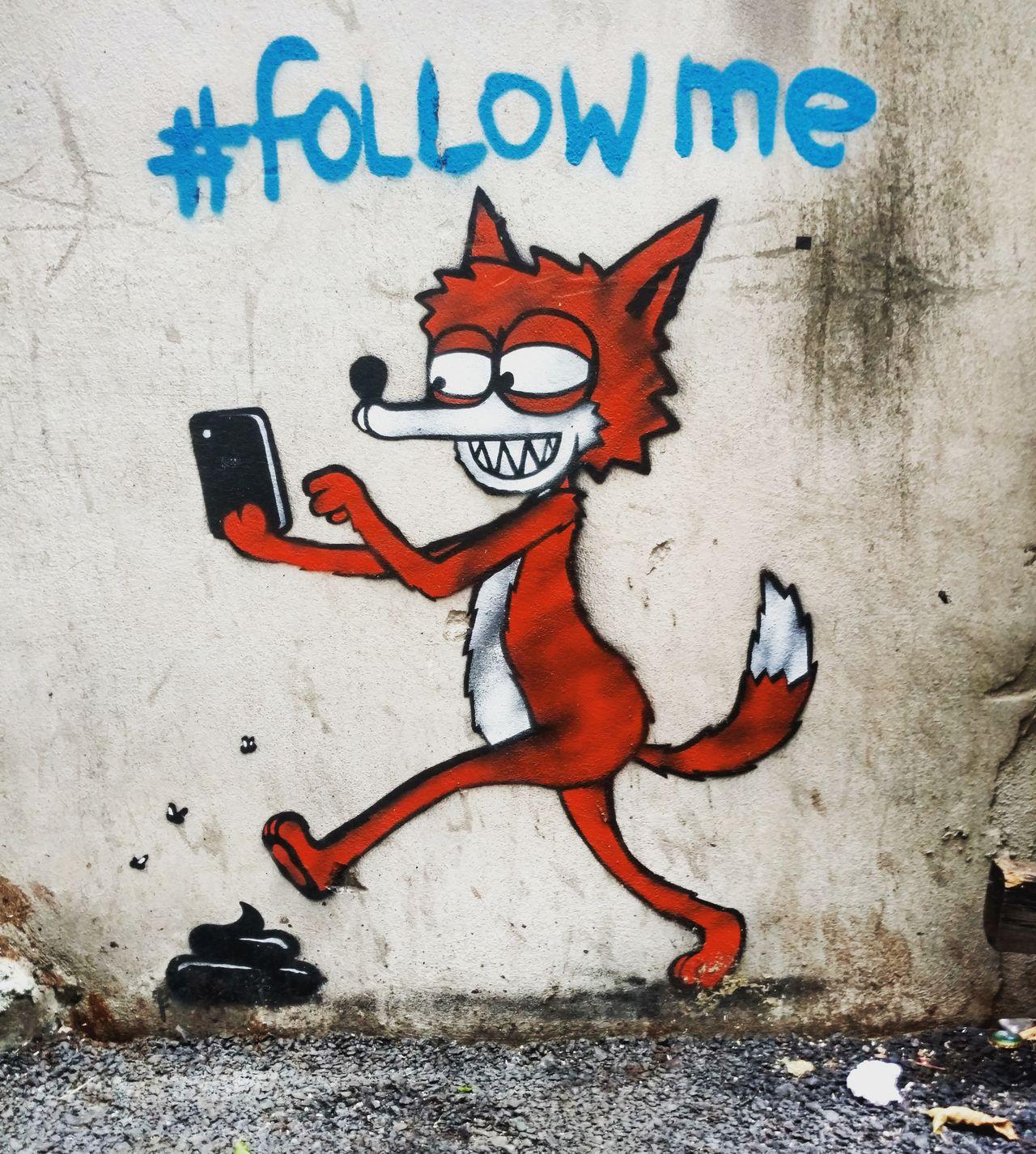 Spray Paint Outdoors Graffiti Graffiti Art Graffiti & Streetart Streetphotography Street Photography Streetart Street Art Fox Cartoon Poop What Does The Fox Say? Followme Follow Follow4follow Followback