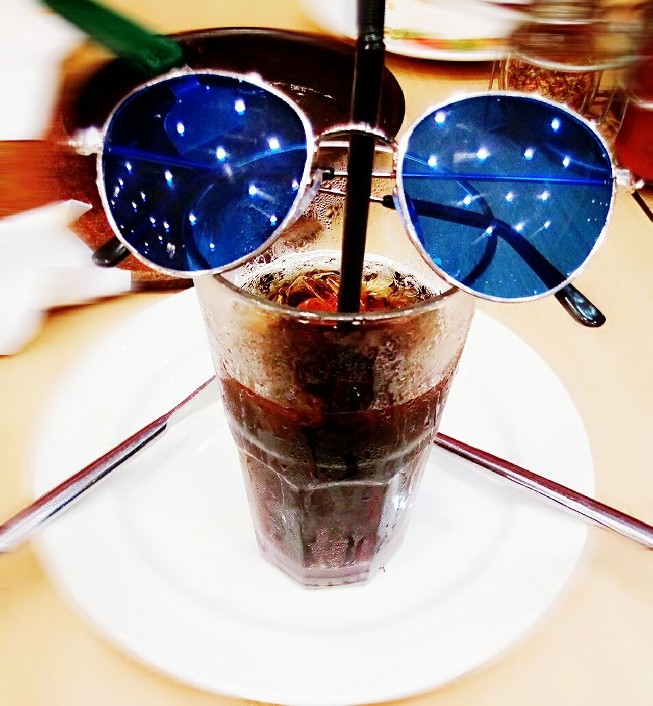 Drinking Glass Drink No People Freshness Table Sunglasses