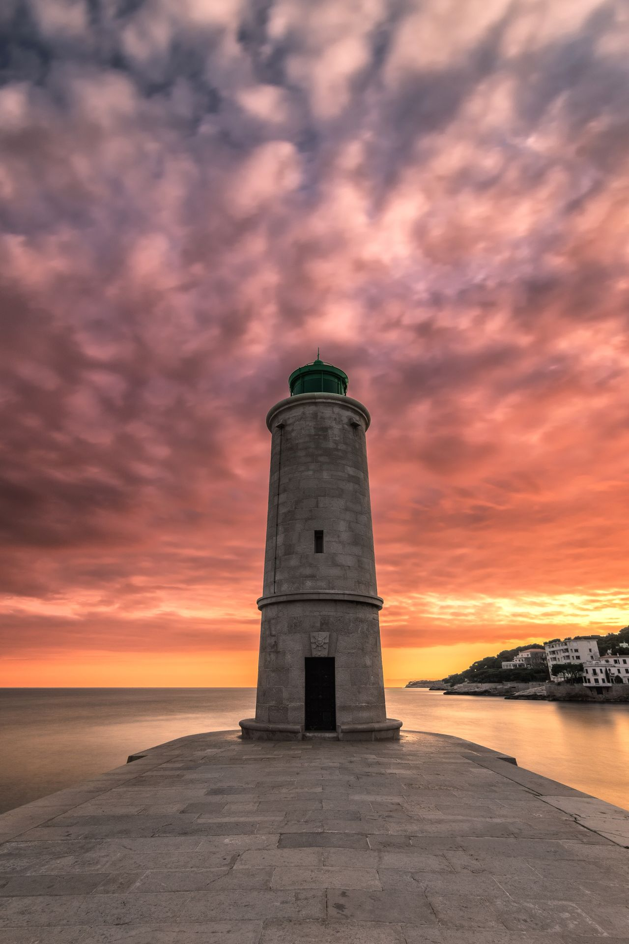 Standing still. Long exposure single shot, the lighthouse from Cassis versus burning sunset sky. Mediterranean feel. Lighthouse Sea Sunset Cloud - Sky Burning Sky Sky Horizon Over Water Beauty In Nature Outdoors Tranquility Beach Romantic Sky Scenics Water Travel Destinations Serenity Scenic Landscapes My Travel Photography Long Exposure From A Tourist Perspective France Cassis Travel One Of A Kind  Light And Shadow